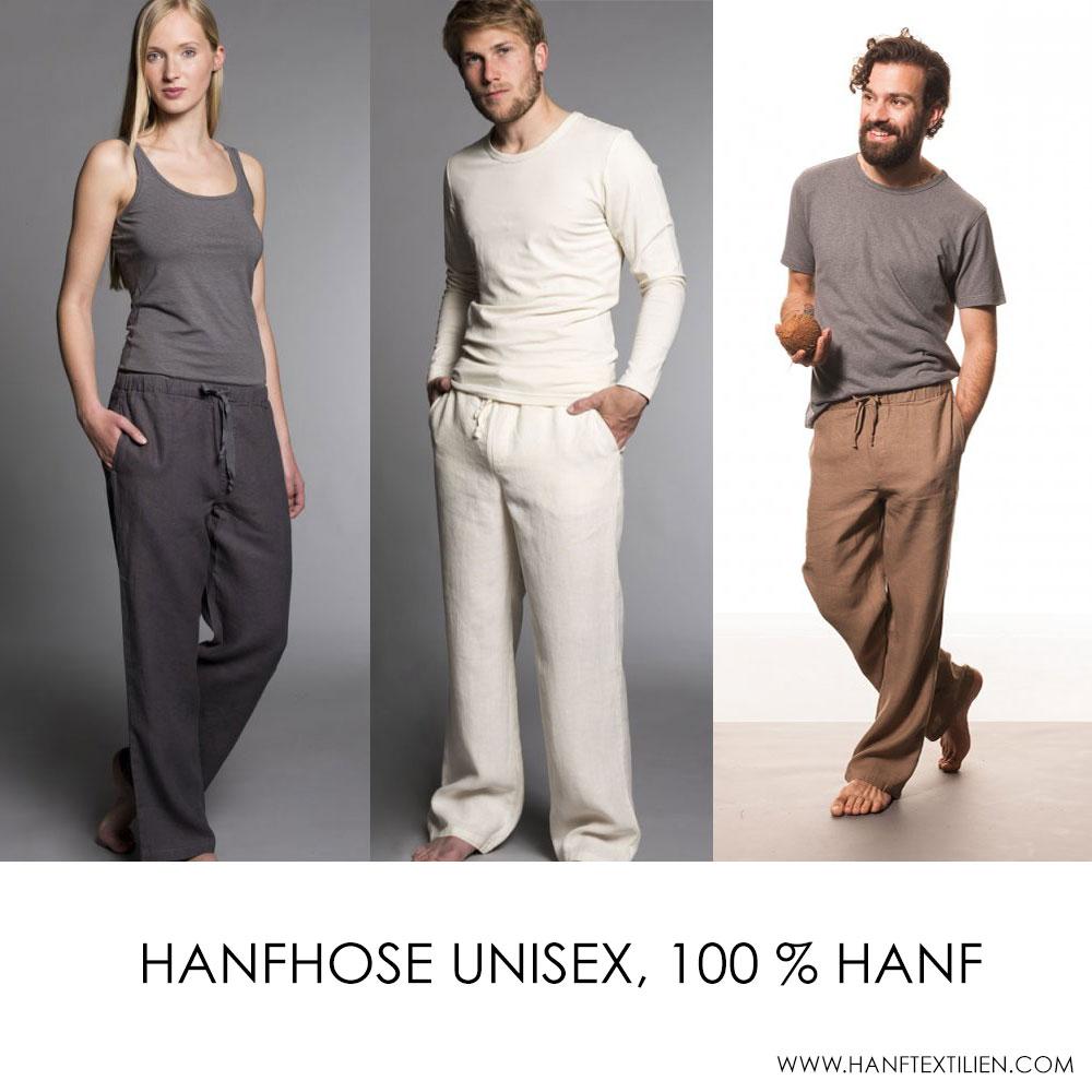Hanfhose Unisex, 100 % Hanf